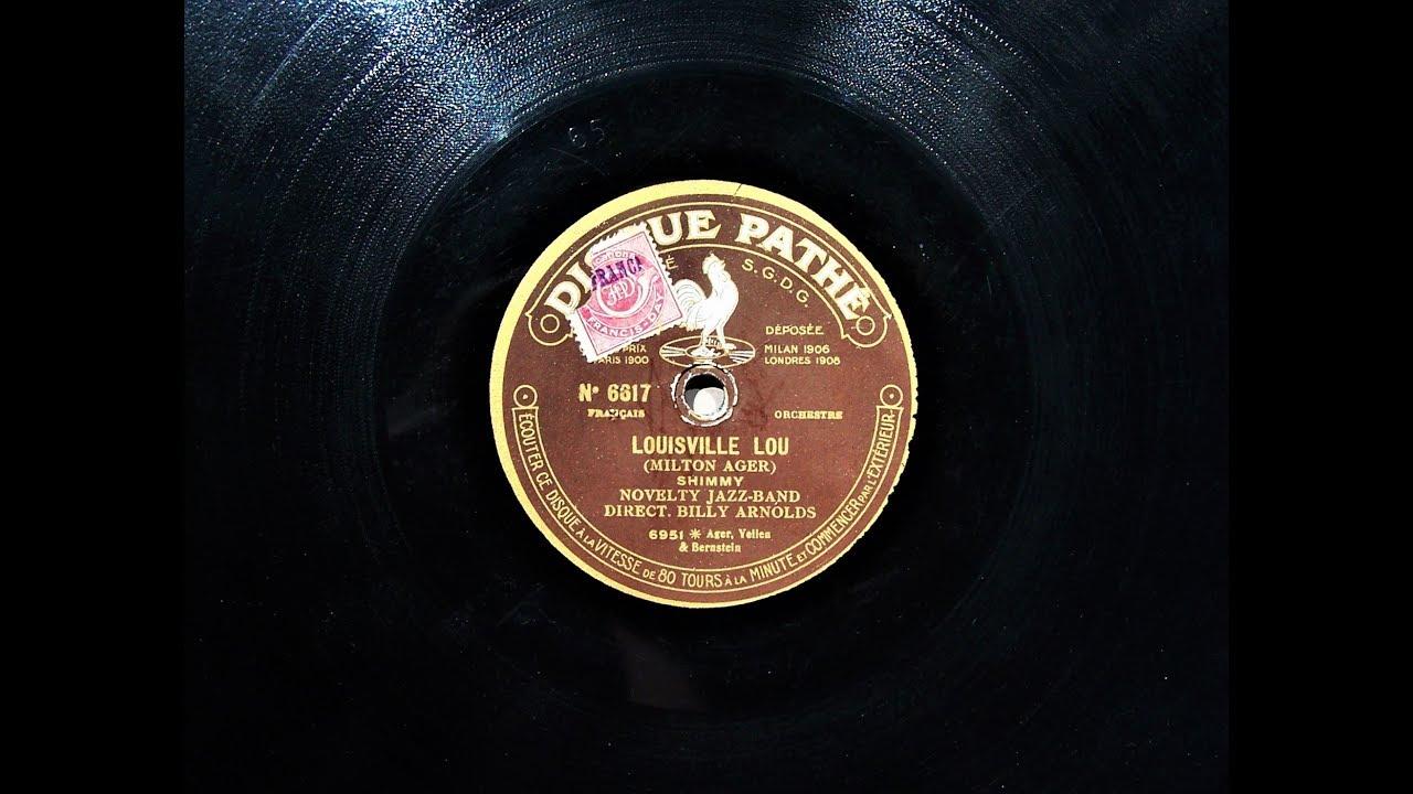 Louisville Lou - Billy Arnold's Novelty Jazz Band (1923)