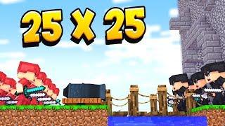 25 VS 25! ОТВЕТНЫЙ УДАР КОРОЛЯ! Minecraft