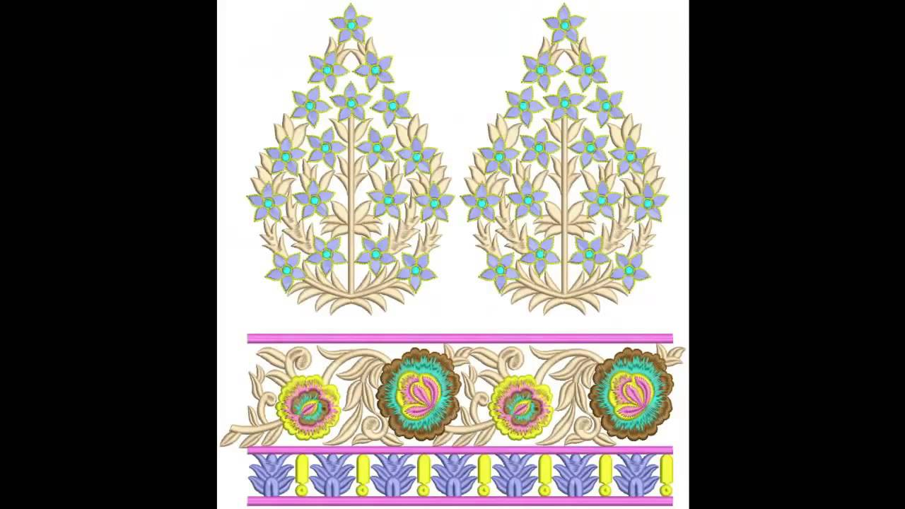 Neck Gala Embroidery Designs Bulk Download Sep 2014 Youtube
