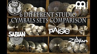 [11.95 MB] 6 Different Studio Cymbals Sets comparison MEINL, SABIAN, ZILDJIAN, PAISTE