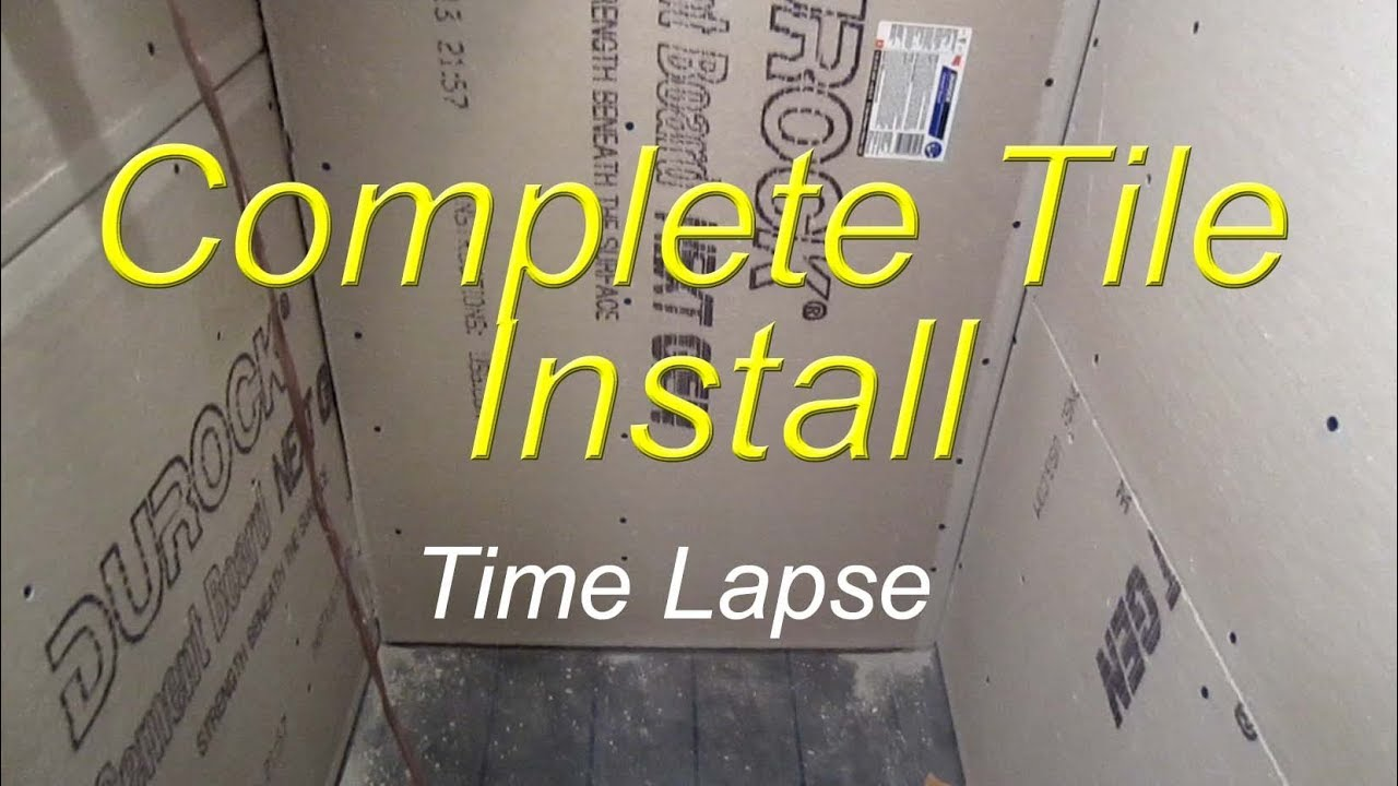 Complete Bathroom Shower Install Time Lapse Start To