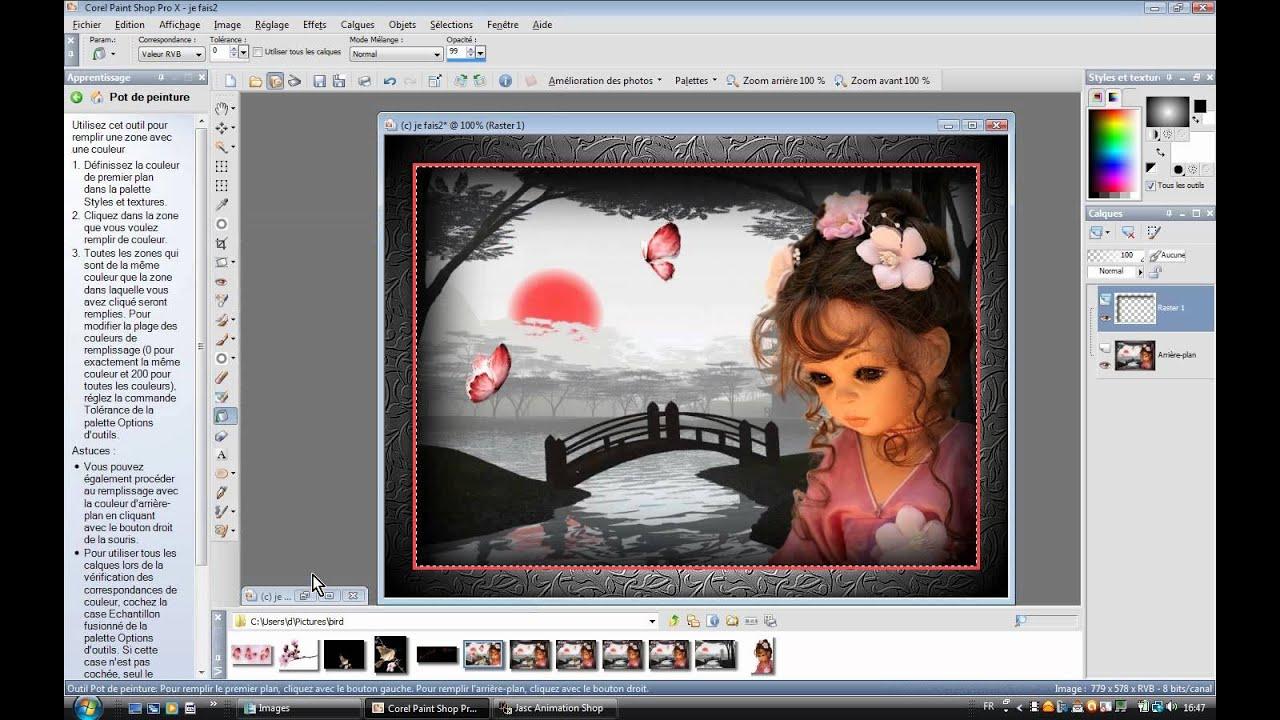 Fabuleux Tuto Animer les ailes d'un oiseau avec PSP et Jasc Animation - YouTube LK87