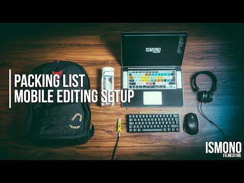 PACKING LIST: My mobile Editing Setup (Desk Tour)