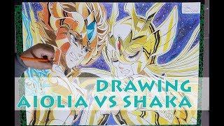 DRAWING AIOLIA VS SHAKA [SAINT SEIYA]