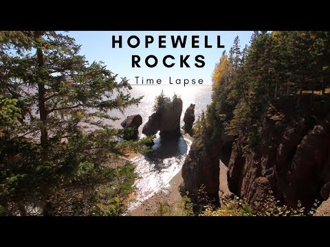 Bay of Fundy Tides Time Lapse | The Highest Tides in the World at Hopewell Rocks!