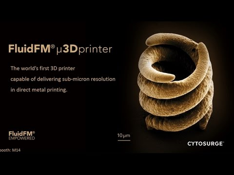 Cytosurge FluidFM µ3Dprinter, world's first 3D printer at sub-micron direct metal printing
