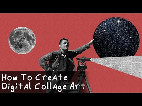 How To Create Digital Collage Art || Photoshop Tutorial