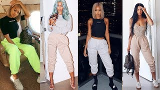 Sweat Pants Lookbook! | How to style Sweatpants