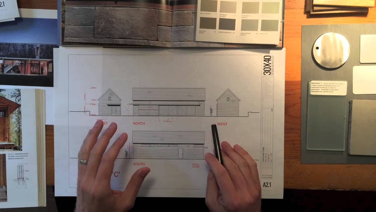 Architects Design Process Modern Barn Studio Material Selections