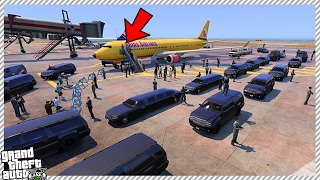 The president donald trump arrives at los santos international airport