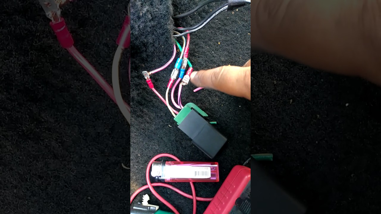 91 Ford mustang 50 fuel pump relay connector wiring