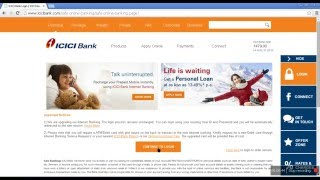 ICICI NET BANK LOGIN