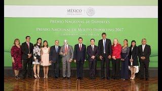 Entrega del Premio Nacional de Deportes y Premio Nacional de Mérito Deportivo 2017