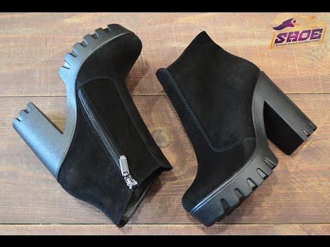 Женские замшевые зимние ботинки Paolo Gianni на толстом каблуке