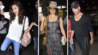 Bollywood Celebs Spotted At Mumbai Airport - Alia Bhatt, Kangana Ranaut, Akshay Kumar
