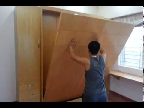Giường gấp thông minh đa năng bằng gỗ sồi mỹ