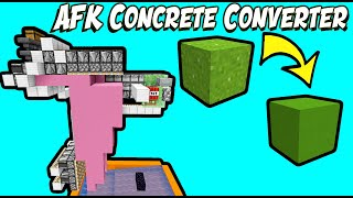Simple & Fast AFK Concrete Maker (30 minute build) | 1.11-1.16.3+ Minecraft [CHECK description]