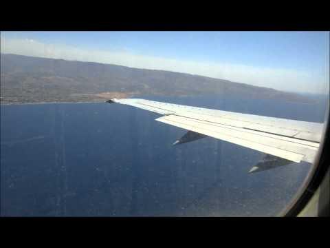 Landing in REG (circle to land) - 737-400 Blu-Express