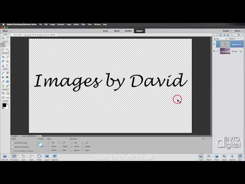 Creating A Signature Or Copyright Brush Photoshop Elements