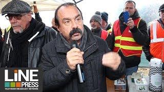 Grève du SIOM Vallée de Chevreuse Philippe Martinez en visite / Villejust (77) - 16 novembre 2018
