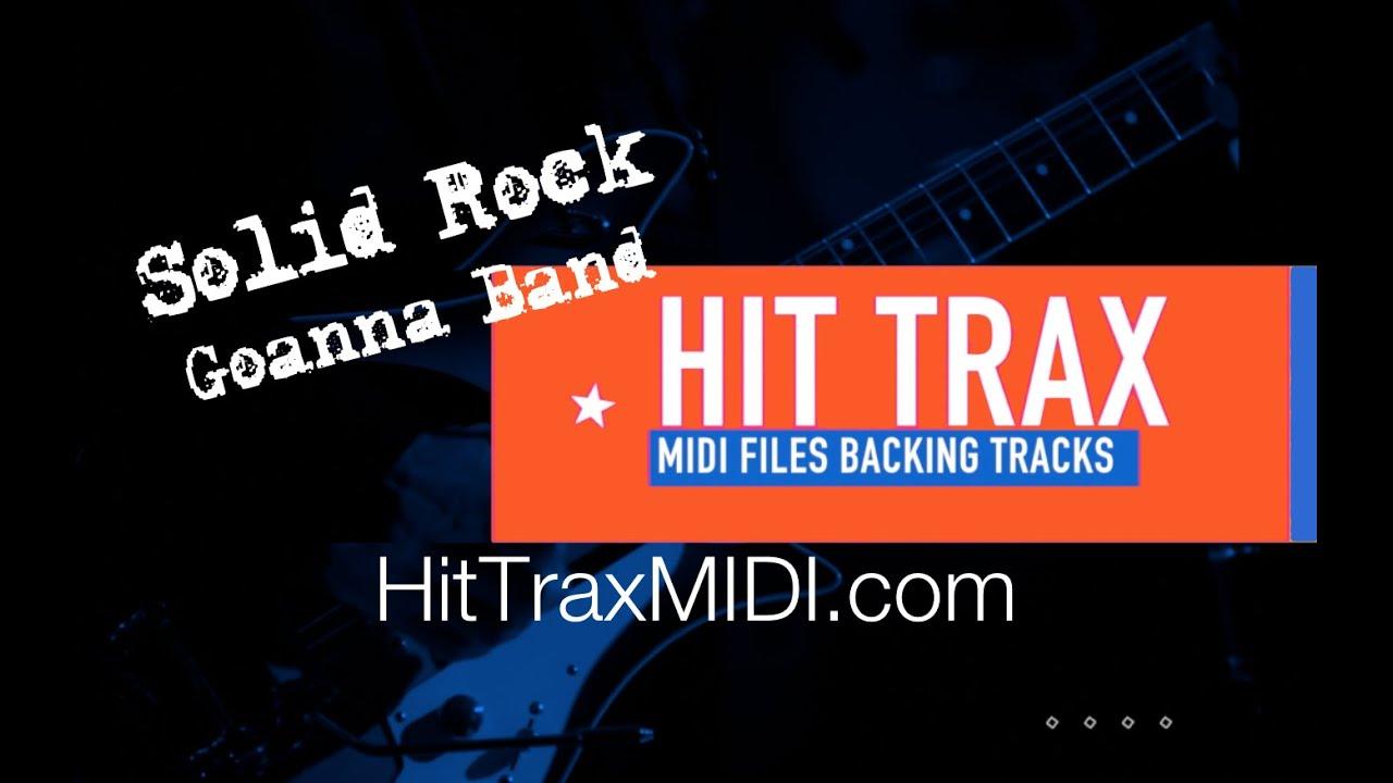 Solid Rock MIDI File Backing Track Goanna Band