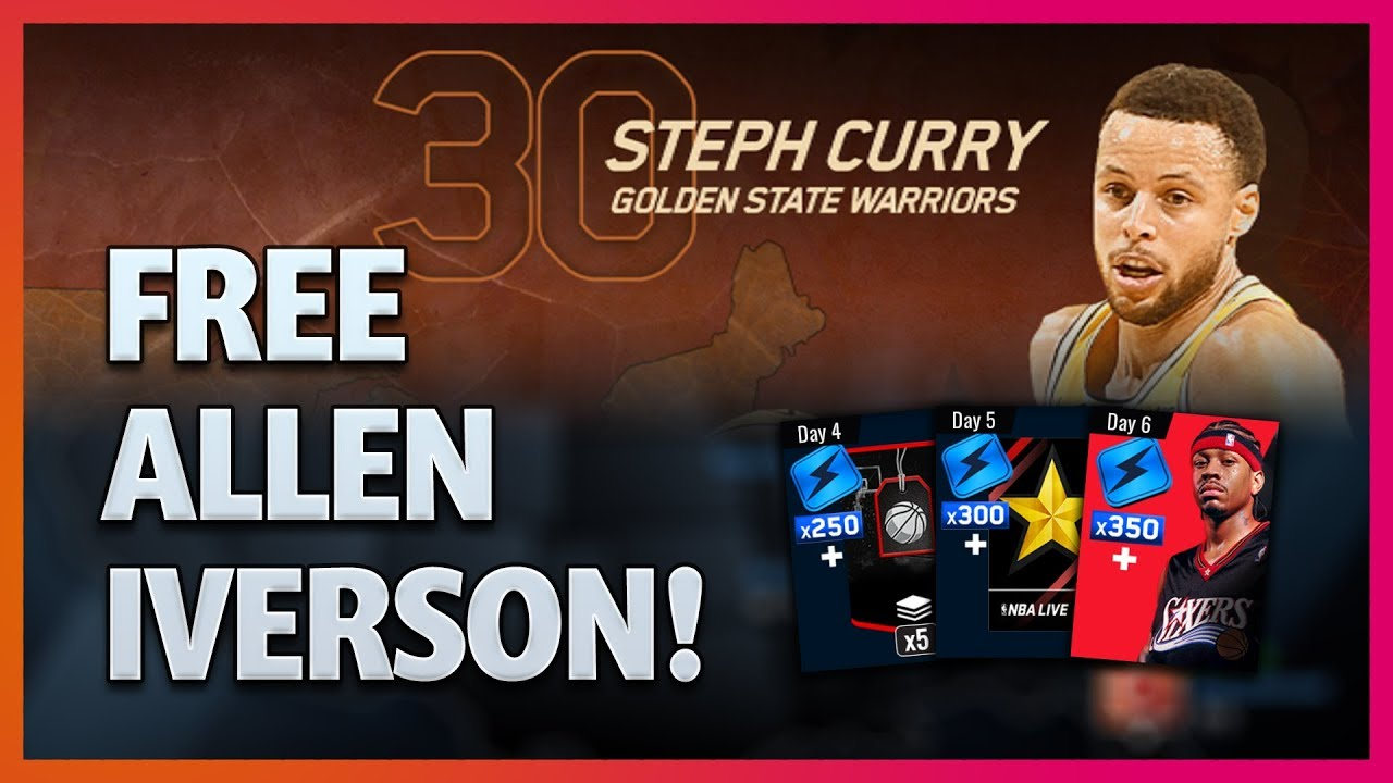 7dac03955 Free 84 OVR Allen Iverson! And Other Daily Login Rewards - NBA LIVE ...