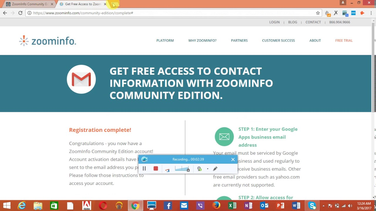 How to Create zoominfo.com enterprise account free - YouTube