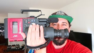 JVC GR-C1U VHS Camera Review (The Back to the Future camera)
