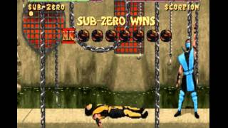 Mortal Kombat II (Snes) Sub-Zero Gameplay