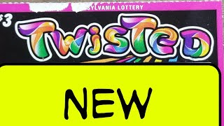 New $3 Twisted.  Pa lottery scratch tickets.