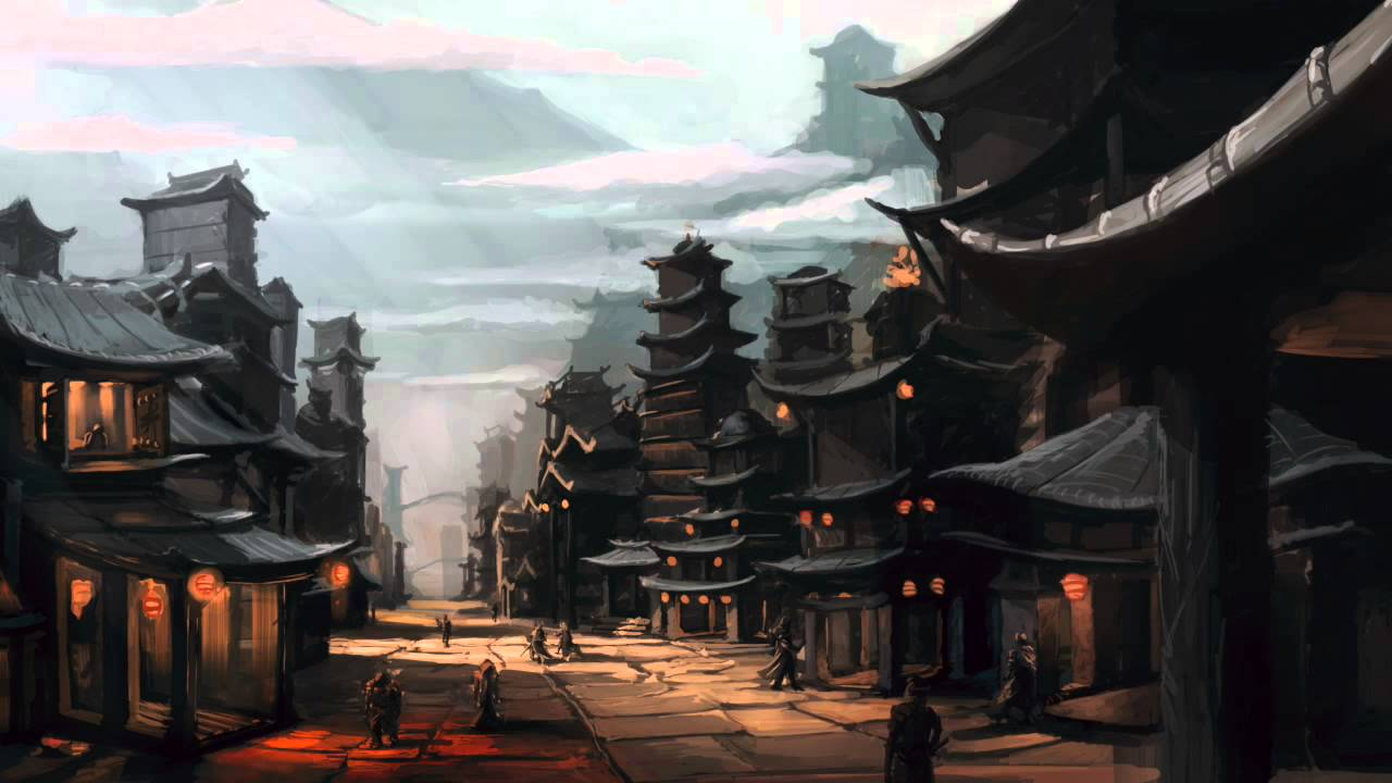 Chinese City Concept Art