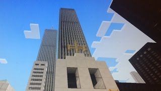 Building the World Trade Center Towers | Minecraft