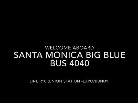 (EXPRESS) Santa Monica Big Blue Bus 2005 New Flyer L40LF #4040 | Coin Lloyd's Transit Hub