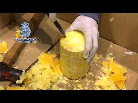 Polícia portuguesa encontra 745Kg de cocaína escondida em ananáses