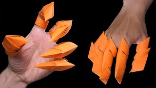 How to make oriġami Dragon Claws Halloween