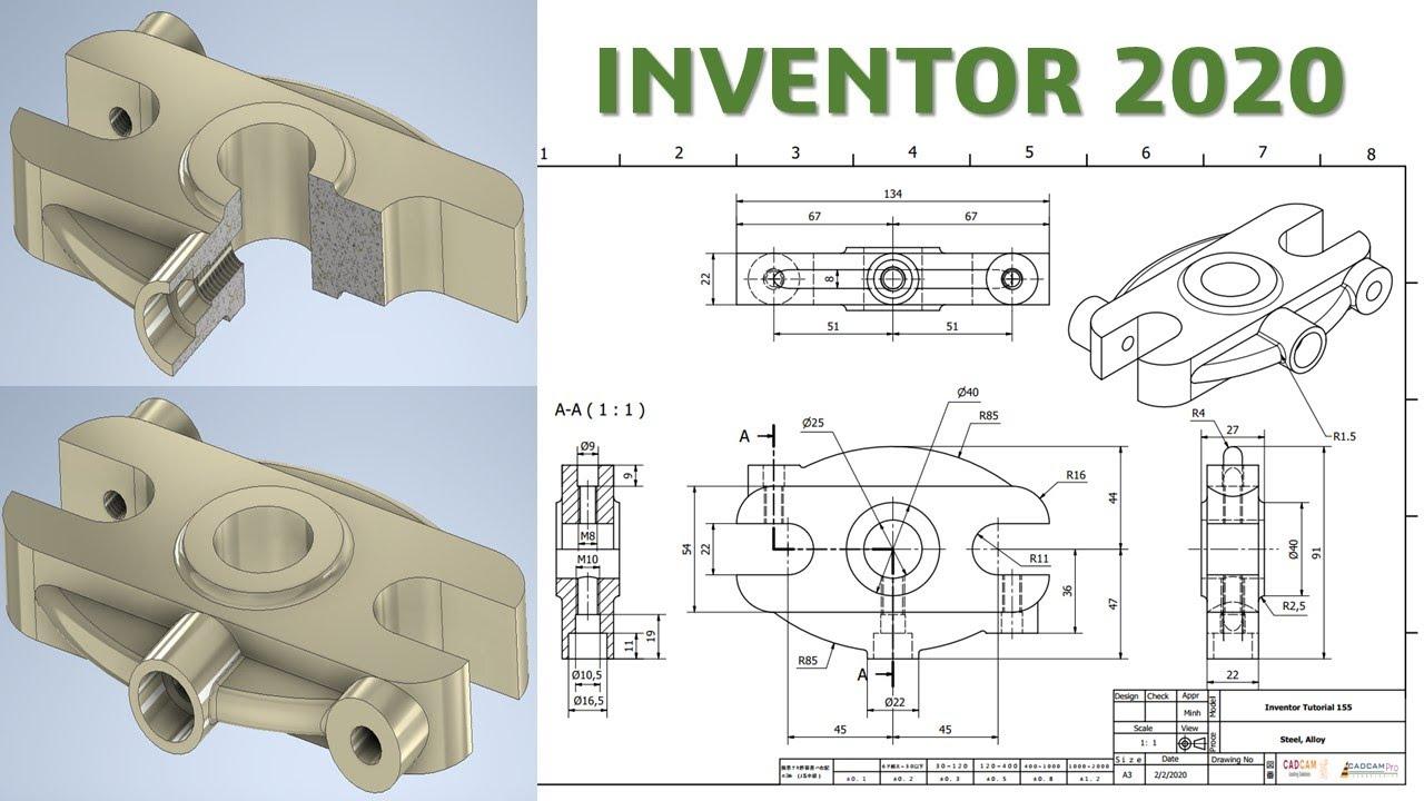 Inventor 2020 Tutorial #155 | 3D Modeling Basic