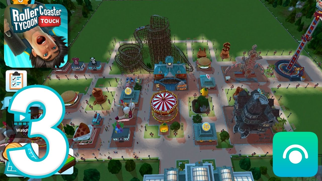 RollerCoaster Tycoon Touch - Gameplay Walkthrough Part 3 - Level 7-8 (iOS)