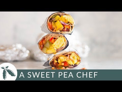 Frozen Breakfast Burritos | Healthy Make Ahead Breakfast! | A Sweet Pea Chef