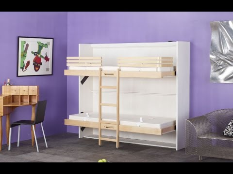 Lit superpos escamotable mlju par modulance youtube - Lit escamotable ikea ...