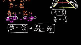 Corollary of Thales theorem( Basic Proportionality Theorem)