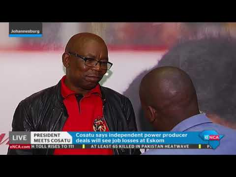 Cosatu General Secretary on meeting with Ramaphosa