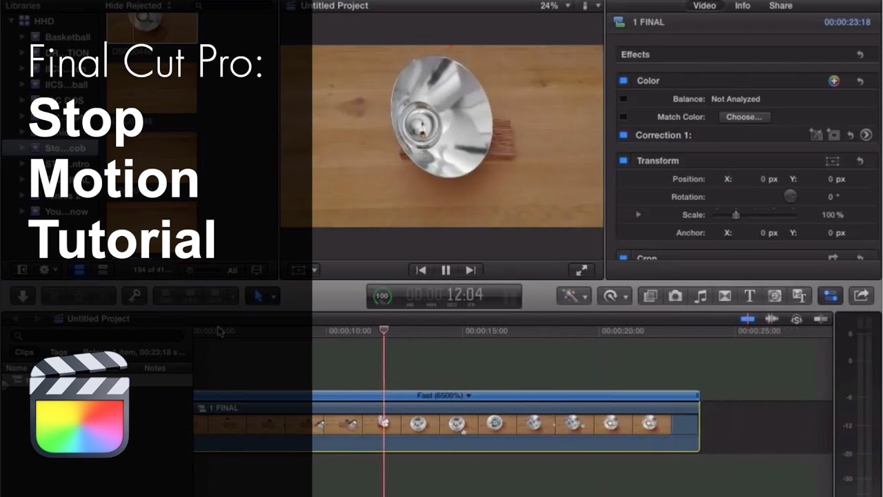 Final Cut Pro X Stop Motion Tutorial - YouTube