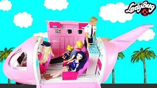 Miraculous doll Family LOL Surprise Airplane Travel La Famille Miraculous poupées voyage en avion