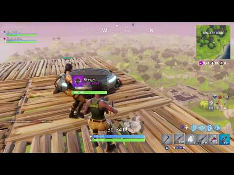 Epic Launch Pad MAX DISTANCE from Highest Point with Glider in Fortnite Battle Royale