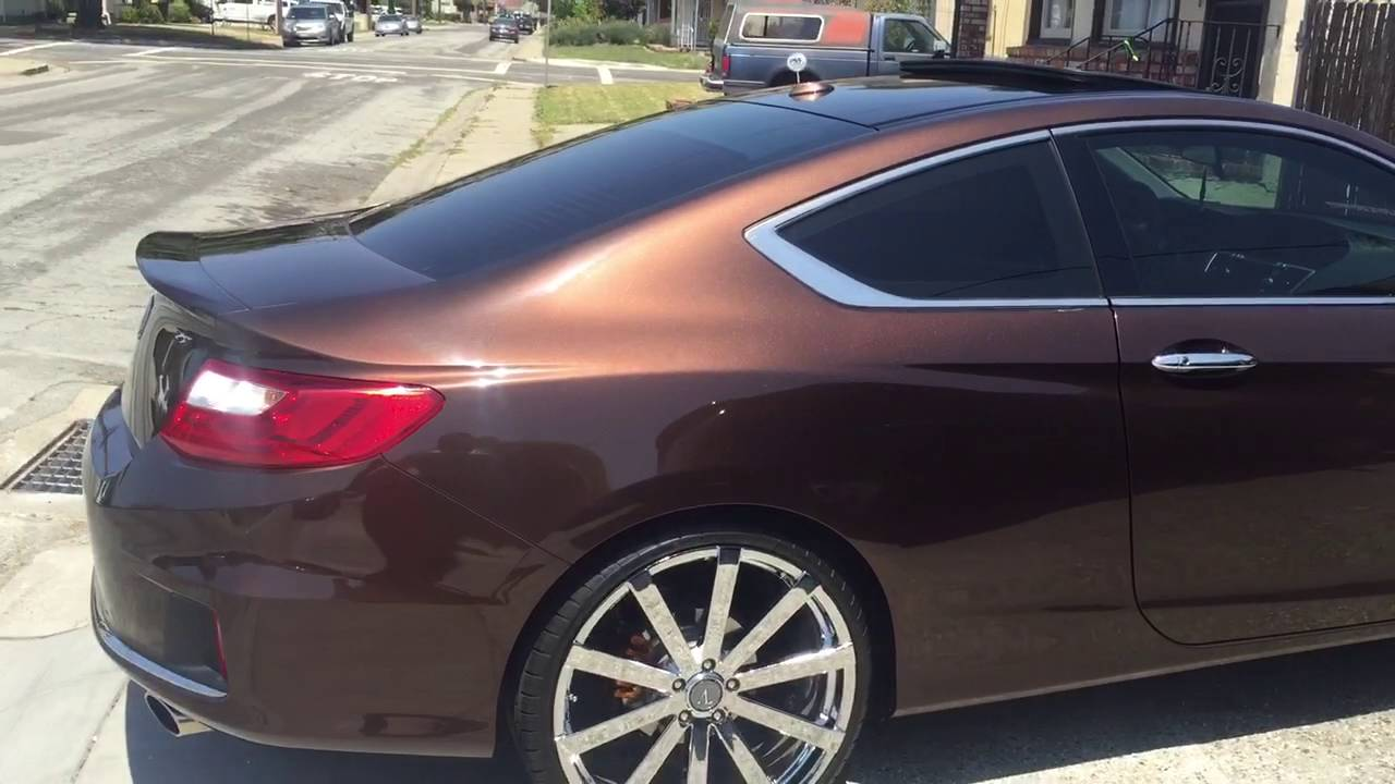 2016 Honda Accord Ex L V6 >> 2013 Honda Accord Coupe on 22s/ Update Video - YouTube