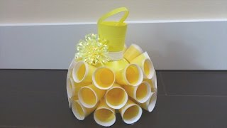 Repeat youtube video Recycling Ideas: Beautiful Dress out of Plastic Bottles and Cups