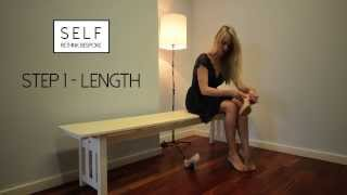 SELF - A simple guide to measuring your feet. www.self-footwear.co.uk