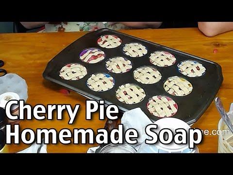 Making Cherry Pie Homemade Soap