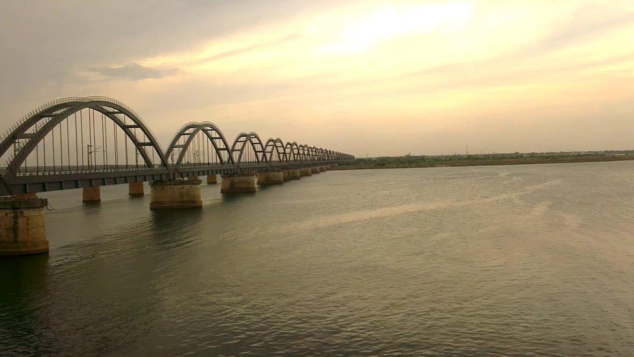 godavari arch bridge view from chitrangi guest house 3rd