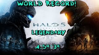 [WR] Halo 5: Guardians Full Game Legendary in 1:59:39 World Record!